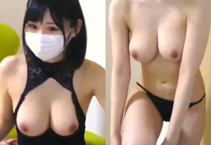 イイ身体した巨乳ライバーの生着替え配信