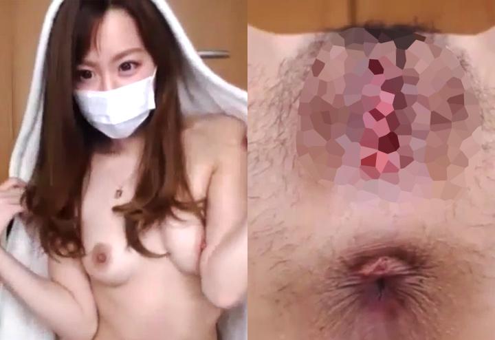 マンコと肛門を接写する有料配信