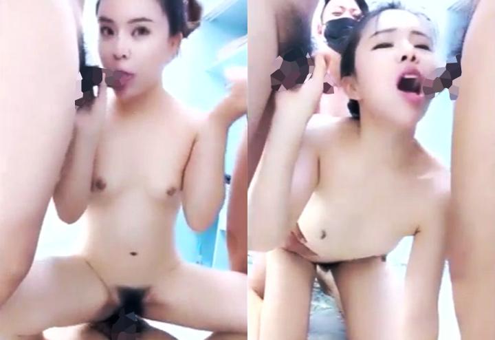 淫乱中国女による4P