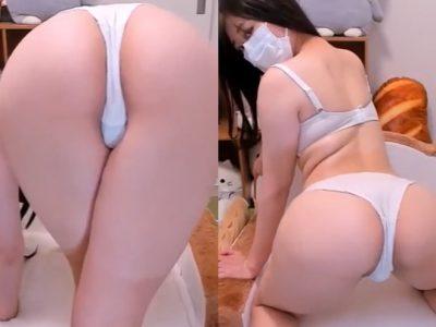 美尻女のオナニーライブ